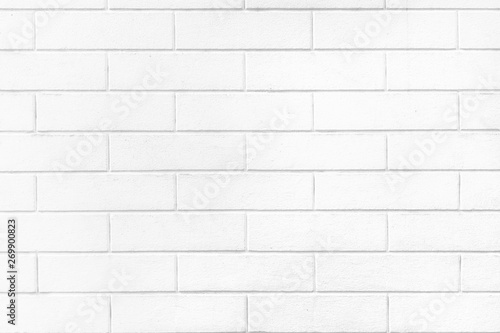 White brick wall texture or pale soft color brick wall as background. - 269900823