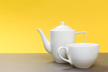 Vintage White Porcelain Teapot...