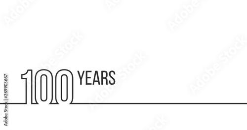 Fotomural  100 years anniversary or birthday