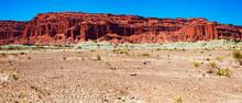 Mountains Of Red Sandstone In Ischigualasto Park