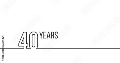 Fotografia  40 years anniversary or birthday