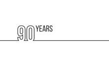 90 Years Anniversary Or Birthd...