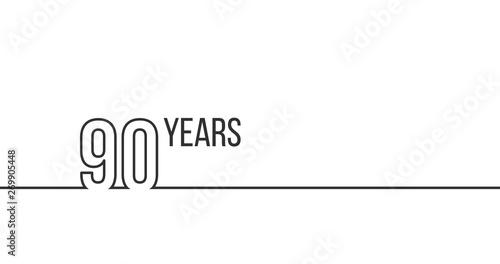Valokuvatapetti 90 years anniversary or birthday