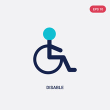 Two Color Disable Vector Icon ...
