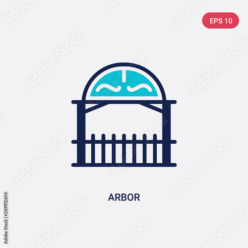 Canvas Print two color arbor vector icon from architecture and city concept