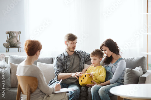 Parents work with child in therapy sessions so they learn tips and ideas for keeping up the lessons at home.
