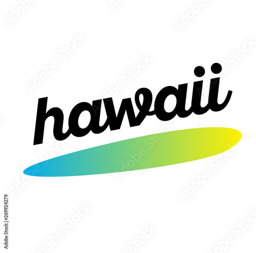 HAWAII stamp on white background Canvas Print