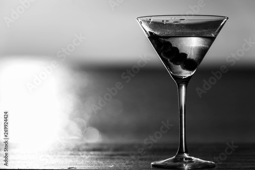 Dirty Martini Beachside Black and white Canvas Print