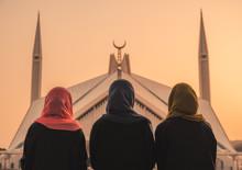 Women In Front Of Mosque