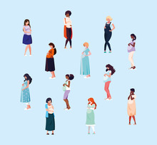Group Of Pregnant Women Avatar...