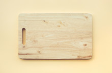 Chopping Board Wooden On Pastel Color