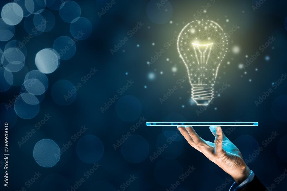 Fototapety, obrazy: Artificial intelligence on digital tablet