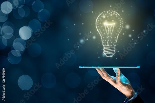 Obraz Artificial intelligence on digital tablet - fototapety do salonu
