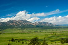The Flatirons Mountains In Bou...