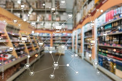 Fotomural  Franchise Distribution network Shop Retail Business Financial concept