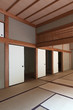 Interior view of traditional Japanese house in Kyoto, Japan