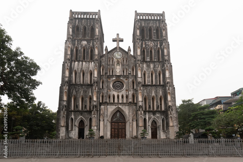 Vietnam Hanoi St Joseph's Cathedral is a Gothic Revival church of the Roman Catholic for Catholics in Hanoi,Vietnam