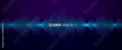 Sound wave Canvas Print