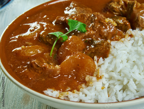 Fotomural  Lamb and apricot Cape Malay curry