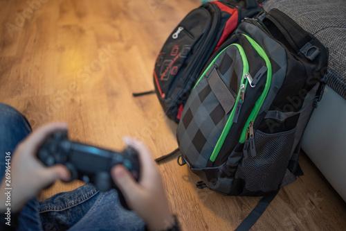 Fotografie, Obraz  zocken spielen kinder keine schule