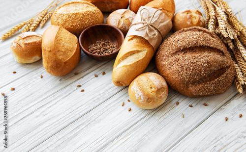 Fototapeta Assortment of baked bread obraz