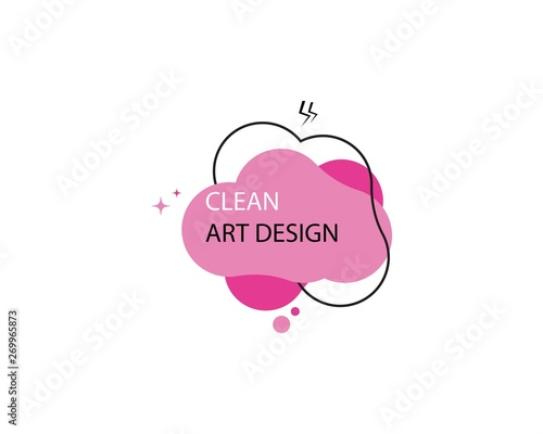 Fototapety, obrazy: Abstract clean color logo template