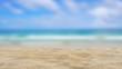 Closeup Beach Sand Texture In The Summer.
