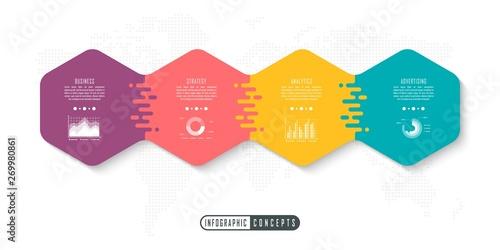 Vector infographics template for chart, diagram, web design, presentation, workflow layout Tapéta, Fotótapéta