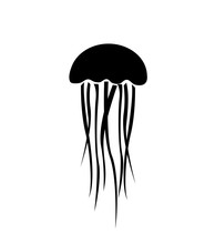 Jellyfish Icon, Vector Illustration