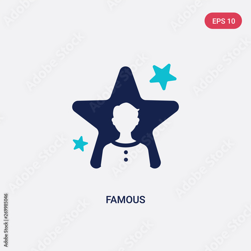 two color famous vector icon from blogger and influencer concept Wallpaper Mural
