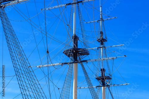 Fotografie, Obraz  Masts of a sailing ship