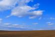日本 北海道 地平線まで続く青空