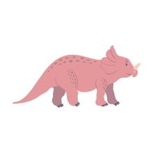 Dinosaur Triceraptor Cartoon