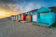 Beach Huts At MIlford On Sea