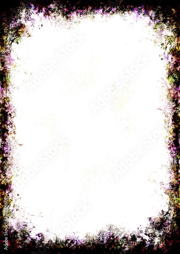 Photo picture frame with rustical scratched structural pattern.