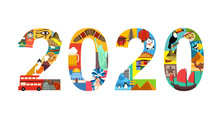 2020 New Year Travel Concept V...
