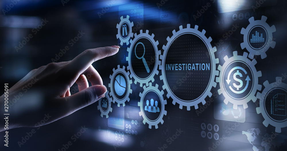 Fototapety, obrazy: Investigation inspection audit business concept on virtual screen.