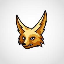 Fennec Fox Mascot Logo Vector
