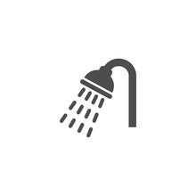 Shower, Bathroom Symbol Vector...