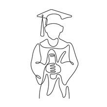 Graduate Continuous Line Vecto...