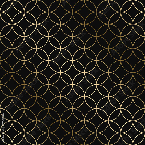 Fototapety, obrazy: Vector geometric art deco pattern - seamless luxury gold gradient design. Rich endless ornamental background