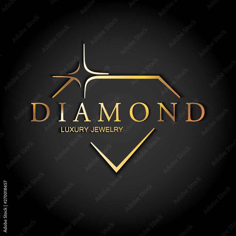 Fototapeta Icon diamond. Vector logo.