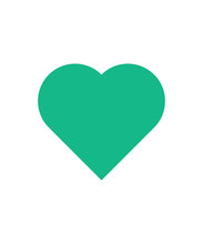 Turquoise Heart Sign. Love Sign