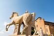 Leinwanddruck Bild - image of the ancient statues in the external area of the Campidoglio, Rome
