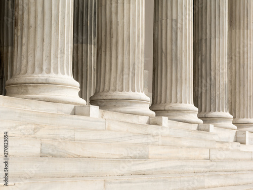 Cuadros en Lienzo Architectural detail of marble steps and ionic order columns