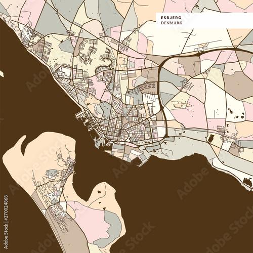 Esbjerg Denmark art map print template – kaufen Sie diese ...
