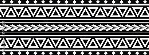 Photo Polynesian Maori Tattoo tribal pattern bracelet, polynesian ornamental  border d