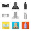 Isolated object of municipal and center icon. Collection of municipal and estate stock symbol for web.
