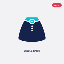 Two Color Circle Skirt Vector ...