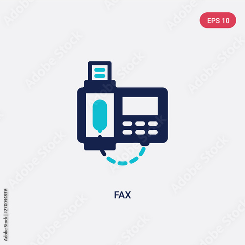 two color fax vector icon from communication concept isolated blue fax vector sign symbol can be use for web mobile and logo eps 10 buy this stock vector and explore similar adobe stock